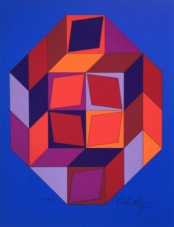 Siebdruck Vasarely - Untitled #7