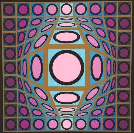 Siebdruck Vasarely - Untitled #8