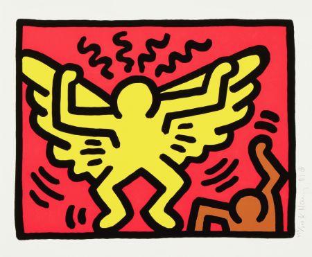 Siebdruck Haring - Untitled (Angel)