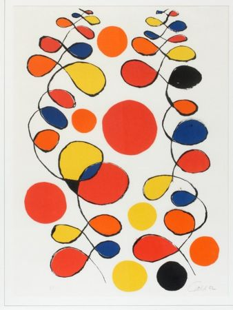 Lithographie Calder - Untitled (Composition With Spirals And Circles)