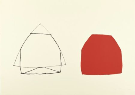 Lithographie Shapiro - Untitled (Double Red),
