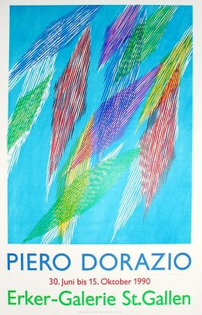 Lithographie Dorazio - Untitled (Exhibition Poster)