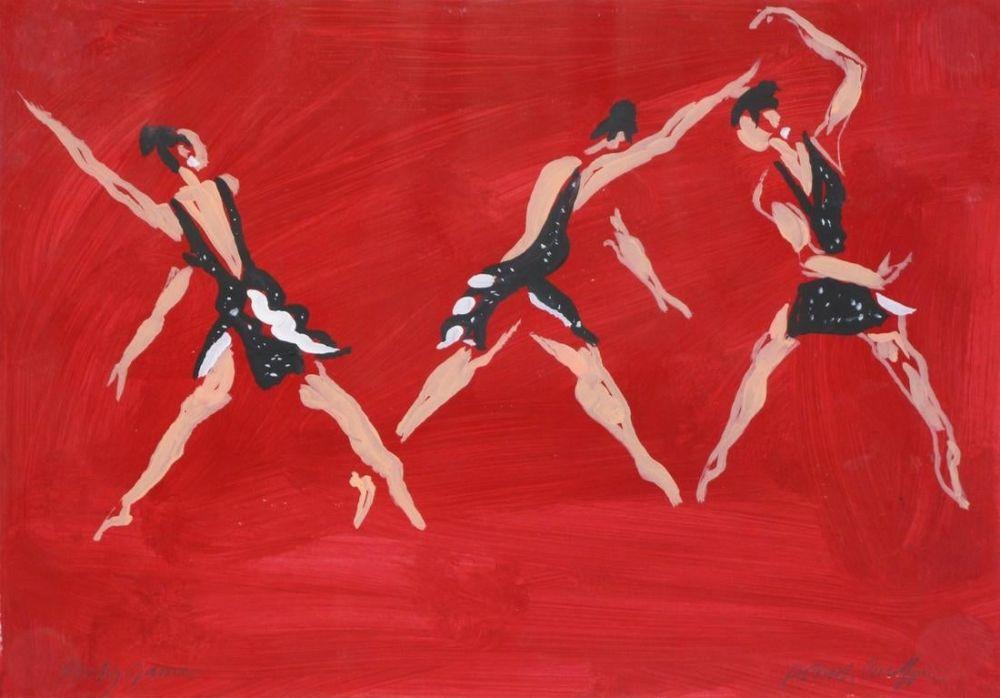 """Keine Technische Caulfield - Untitled (Female Costume Design for """"Party Game"""" 1984"""