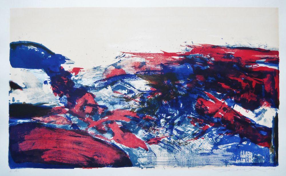 Lithographie Zao - Untitled (from: A la gloire de l'image)