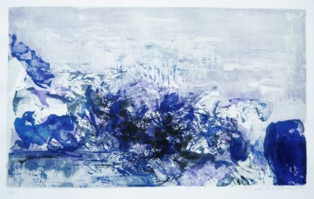 Lithographie Zao - Untitled (from: A la gloire de l'image)