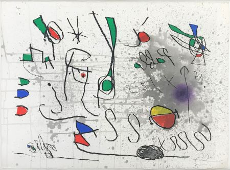Radierung Und Aquatinta Miró - UNTITLED (FROM HOMAGE TO PICASSO)