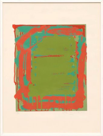 Siebdruck Hoyland - Untitled Green