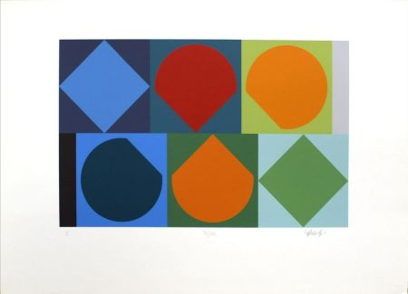 Siebdruck Vasarely - Untitled II