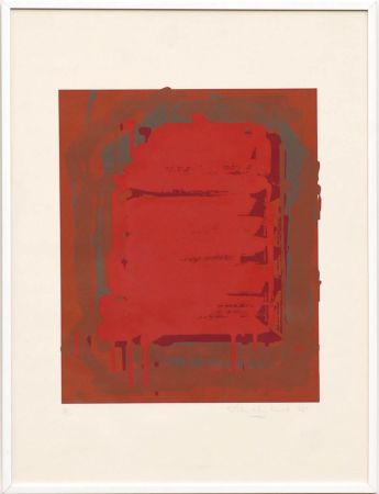 Siebdruck Hoyland - Untitled Red