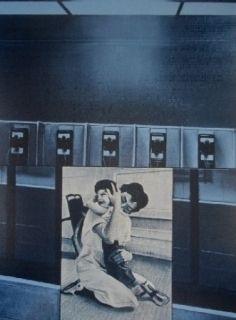 Siebdruck Monory - Usa 76 - Etreinte