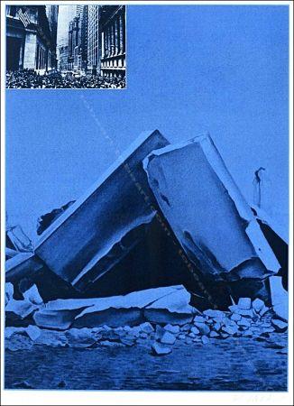 Siebdruck Monory - Usa 76 - Ruines.