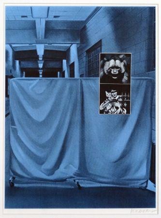 Siebdruck Monory - Usa 76 - Singe