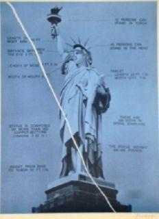 Siebdruck Monory - Usa 76 - Statue De La Liberté