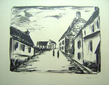 Lithographie Vlaminck - Vallangoujard