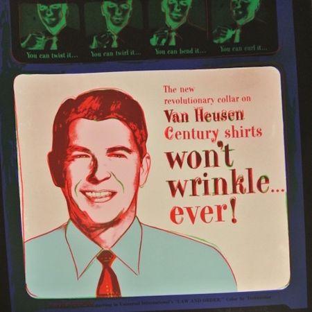 Siebdruck Warhol - Van Heusen (Ronald Regan) (FS II.356)