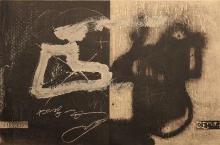 Lithographie Tàpies - Variations 13