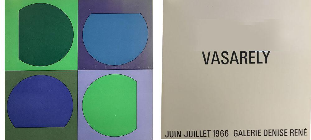 Illustriertes Buch Vasarely - Vasarely Juin Juillet 1966 - Galerie Denise René