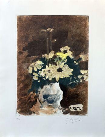 Radierung Braque (After) - Vase de fleurs jaunes