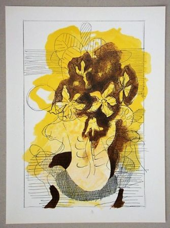 Lithographie Braque (After) - Vase jaune