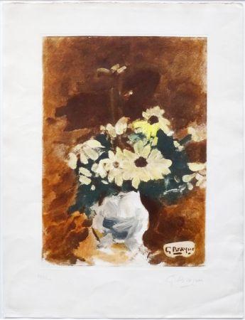 Aquatinta Braque - Vases aux fleurs jaunes