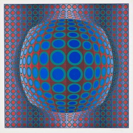 Siebdruck Vasarely - Vega