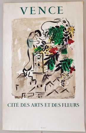 Lithographie Chagall - Vence Cite des Arts et des Fleurs