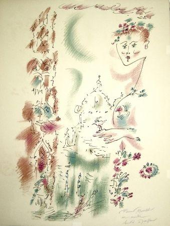 Lithographie Masson - Venise en fleurs