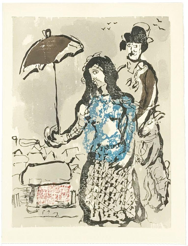 Holzschnitt Chagall - VERS LA RIVE (