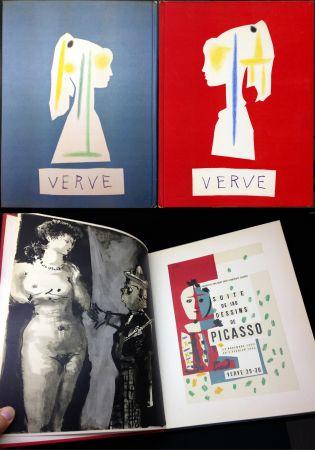 Illustriertes Buch Picasso - VERVE N° 29-30. Vallauris, suite de 180 dessins de Picasso