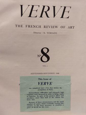 Illustriertes Buch Matisse - Verve no 8 English
