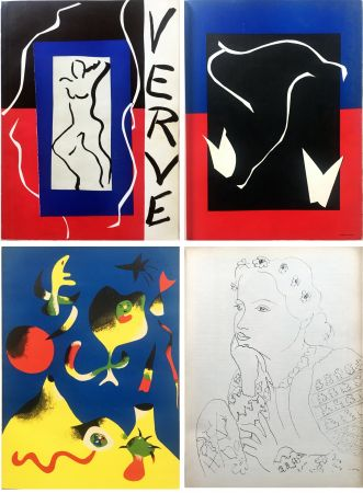 Illustriertes Buch Matisse - VERVE Vol. I n° 1. (couverture de Matisse).