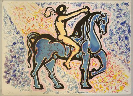 Lithographie Dali - Victoire de l'homme primitif