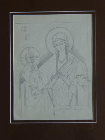 Keine Technische Goncharova - Vierge à l'enfant ,projet pour une icône