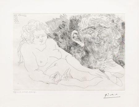 Stich Picasso - Vieux Peintre et Vieux Modele