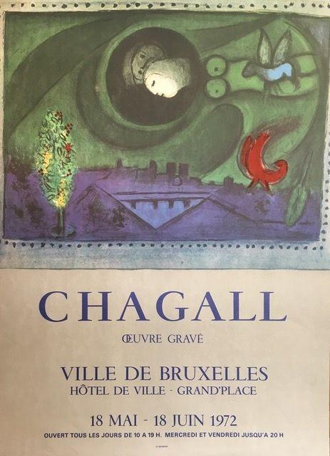 Lithographie Chagall (After) - VILLE DE BRUXELLES
