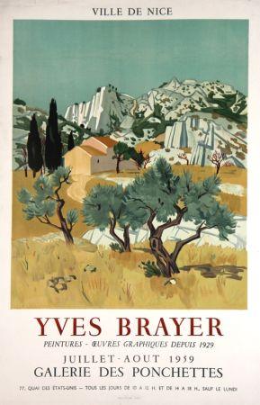 Lithographie Brayer - Ville de Nice
