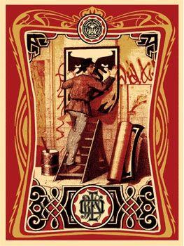 Siebdruck Fairey - Vintage Paster