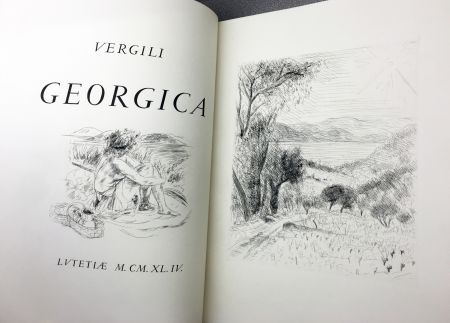 Illustriertes Buch De Segonzac - VIRGILE : LES GEORGIQUES - GEORGICA. 119 eaux-fotres originales (1944/47)