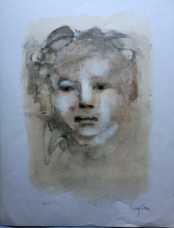 Lithographie Fini - Visage