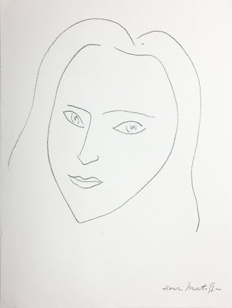 Lithographie Matisse - VISAGE (1943)