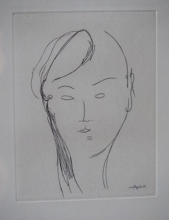 Stich Modigliani - Visage de femme (1920)