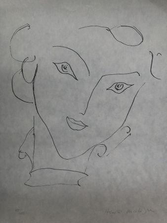 Lithographie Matisse - Visage de femme 45X60 CM EDITION CAHIERS D'ART