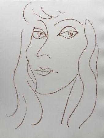 Lithographie Matisse - Visages V