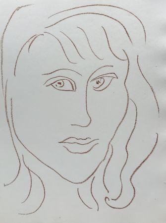 Lithographie Matisse - Visages VII