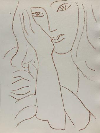 Lithographie Matisse - Visages VIII