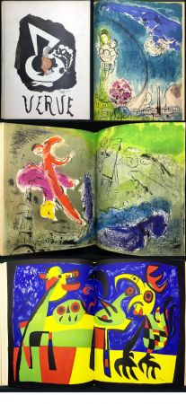 Illustriertes Buch Chagall - VISIONS DE PARIS. VERVE Vol. VII. N° 27-28 (1953)