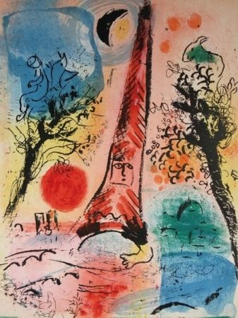 Lithographie Chagall - Visions Of Paris