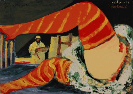 Siebdruck Fiume - Vita di Lautrec