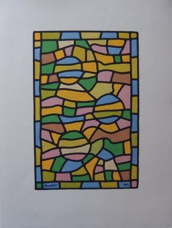 Lithographie Manessier - Vitrail