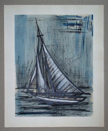 Lithographie Buffet - Voilier, 1959